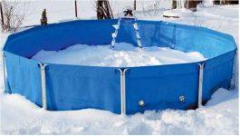 Как хранить бассейн каркасный зимой